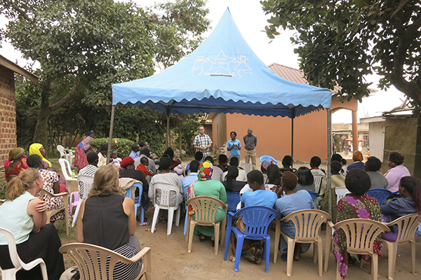 Community outreach in Kasubi.