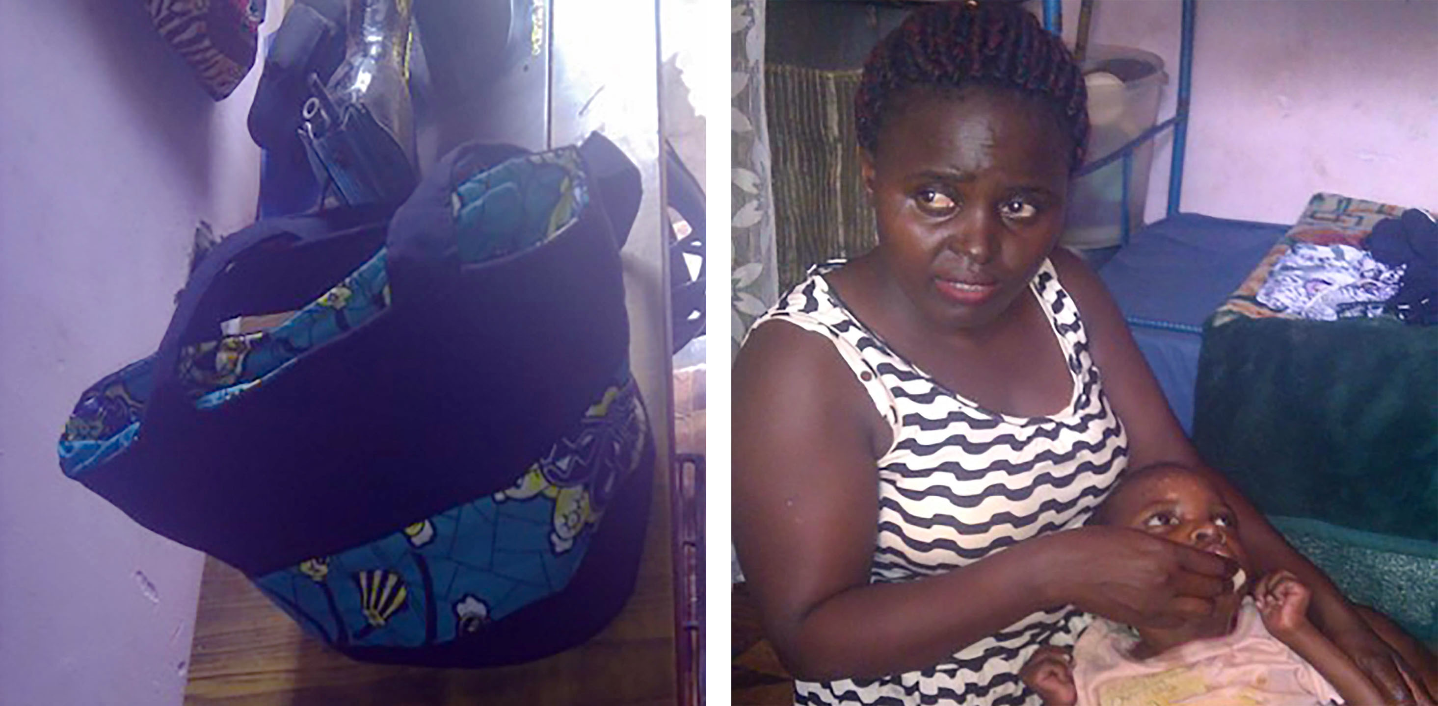 Kabahinda's bag design and Kabahinda with Benjamin